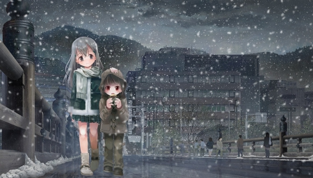 winter night other amp anime background wallpapers on