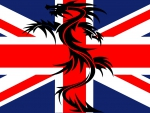 Union Jack With Dragon