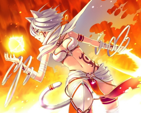 Pure magic other anime background wallpapers on - Anime girls with fire ...