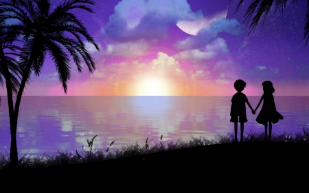 Sunset and Love - Other & Anime Background Wallpapers on ...