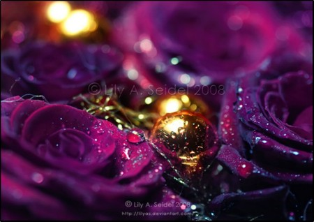 Purple & Gold - 3D and CG & Abstract Background Wallpapers ...