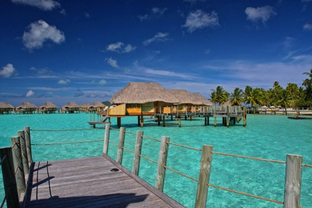 Aqua Blue Lagoon Bora Bora - tropical, luxury, villa, blue, south, exotic, beach, water, bungalow, polynesia, pacific, turquoise, shallow, warm, aqua, bora bora, sand, paradise, teal, lagoon, islands, island, french, tahiti, sea, ocean
