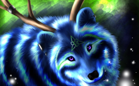 Magic wolf wallpapers - photo#30