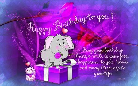Happy Birthday Card Collages Amp Abstract Background