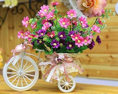 bicycles with flowers wallpaper - photo #19