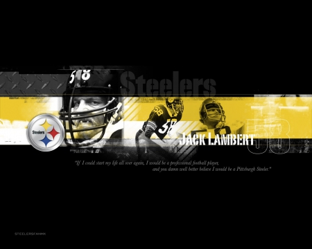 Jack Lambert - steel curtain, Jack Lambert, steelers legends, steelers