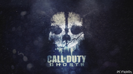 COD GHOSTS SKULL - skull, call, cod, bf3, wallpaper, ghosts, studios, sk, duty, of