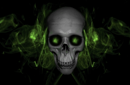 Halloween Skull - 3D and CG & Abstract Background ...