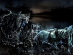 Ghostly Horses & Carriage