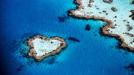 Heart Island - island, water, heart, land