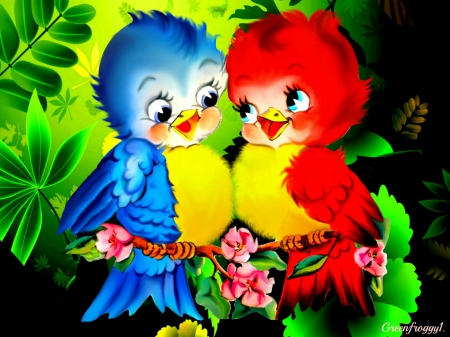 LOVE BIRDS - 3D and cG & Abstract Background Wallpapers on Desktop Nexus (Image 1591438)