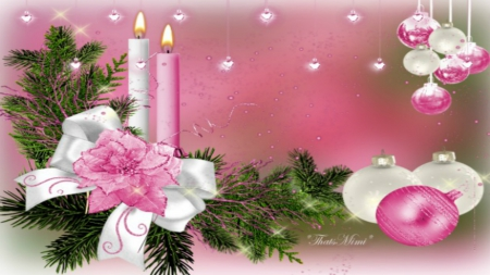 Pink Christmas ~*~ - Other & Abstract Background Wallpapers on ...