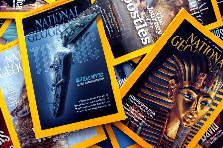 National Geographic - reading, magazines, national geographic, king tut, titanic