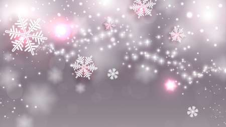 Amazing Winter Snowflakes - mauve, glow, lavender, snowflakes, pink, abstract, shine, winter