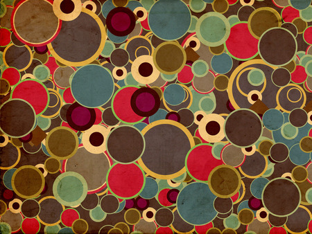 Warm Color Circles - circles, abstract, dots, ali ehsanfar, ae510