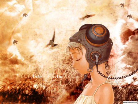 Untitled Wallpaper - woman, last exile, head, music, anime