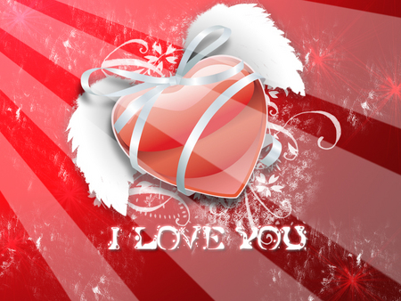 I Love You - Heart - valentine, red heard, red, valentines day, valentines, heart, i love you