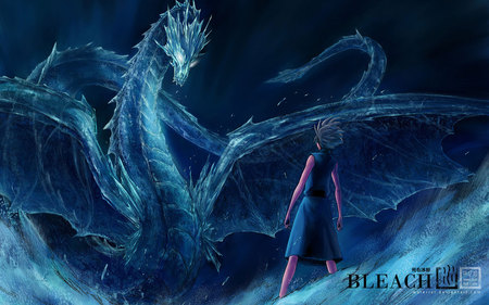 bleach dragon hitsugaya_toushirou - cool, a