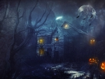 Halloween Haunted House Wallpaper