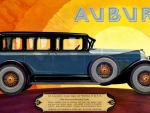 1927 Auburn 4 door sedan art