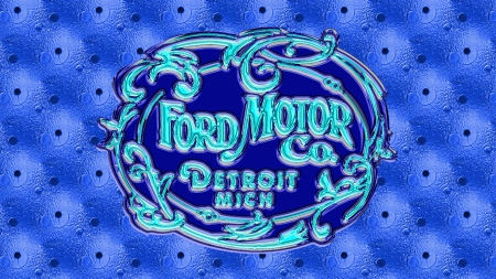 1903 glass ford logo blue ford amp cars background