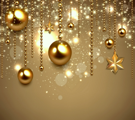 Golden Christmas - 3D and CG & Abstract Background Wallpapers on ...