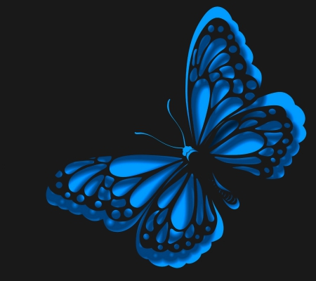 butterfly blue abstract wallpaper - photo #23