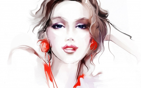 Girl Portrait Art - Other & Abstract Background Wallpapers on ...