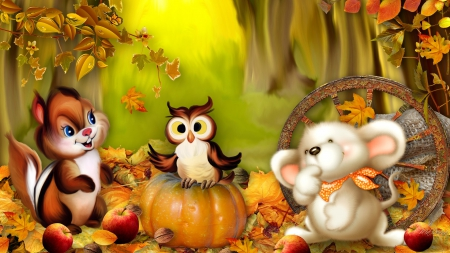 cute owl fall themed wallpapers - photo #37