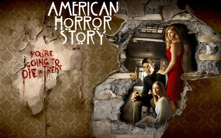 American horror story season 1 tv series entertainment background wallpapers on desktop - American horror story wallpaper ...