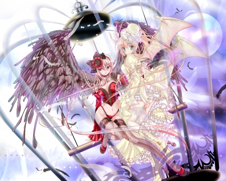 Sweet angel devil anime bff wallpapers and images - Devil angel wallpaper ...