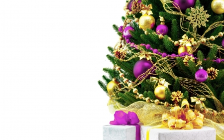 Gold and purple decor photography abstract background - Purple christmas desktop wallpaper ...