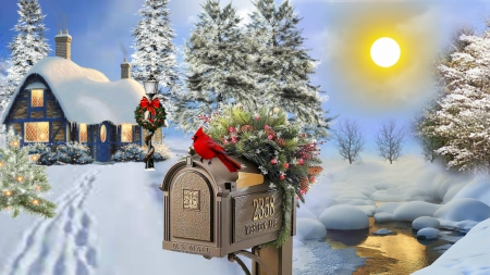 Christmas Is Coming Winter Amp Nature Background