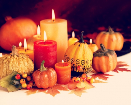 Autumn Leaves Candle Lantern Heart Love HD desktop ... |Fall Candles Background
