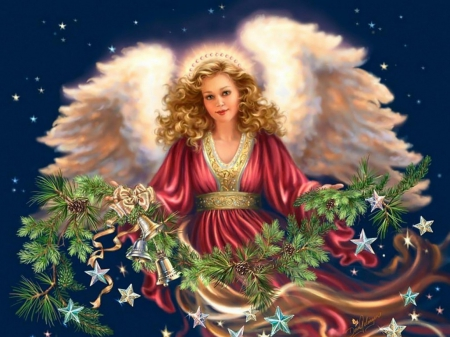 Christmas Angel - Fantasy & Abstract Background Wallpapers on ...