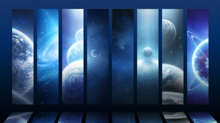 Space in a Window - Planets & Space Background Wallpapers on ...