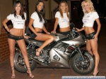 4 Babes And A Bike