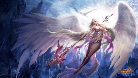 League of Angels - Fortuna - browser game, angel, game, sexy, League of Angels, video game, mmorpg, female, girl, GTArcade, wing, rpg, fortuna, fantasy girl
