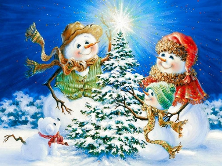 snowman family wallpaper - photo #12
