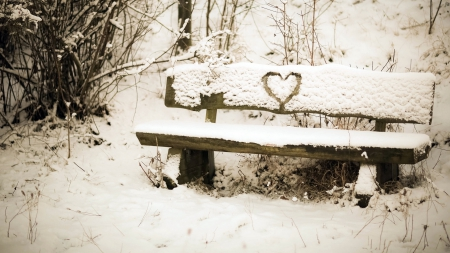 Winter heart - Winter & Nature Background Wallpapers on ...   Hearts In Nature Winter
