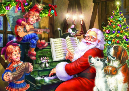 christmas piano wallpaper - photo #38