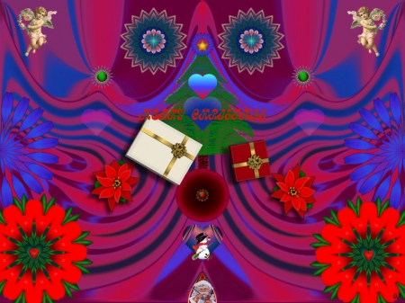 Ho Ho Ho - eye candy, collage, 3D, Abstract, fractal