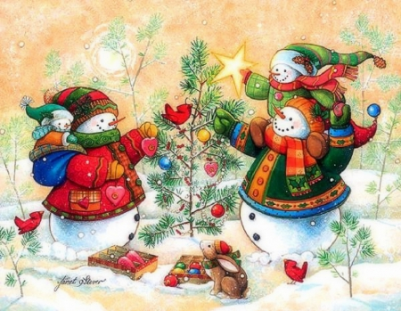 snowman family wallpaper - photo #16