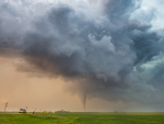 tornado crossing the prairie
