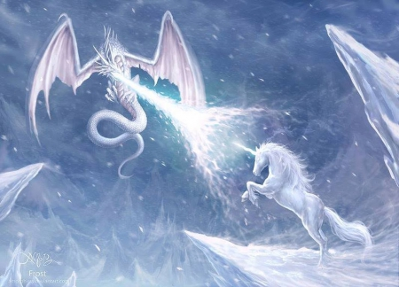 Fighting of ice crystals - Fantasy & Abstract Background ...