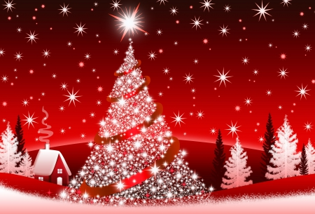 Christmas Tree Photography Abstract Background Wallpapers On  - Magic Christmas Tree
