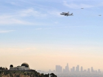 the shuttle endeavour arriving in los angeles
