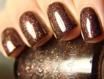 Brown glitter nail polish