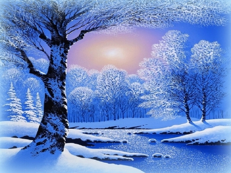 ★Winter Dawn★ - Winter & Nature Background Wallpapers on ...