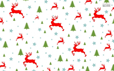 Christmas Pattern Christmas Tree And Reindeer - Fantasy & Abstract ...